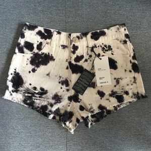 Forever 21 Tie Dye High-waisted shorts